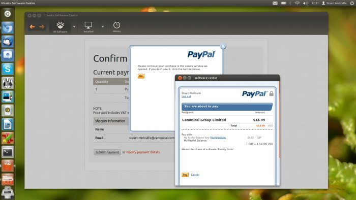 Ubuntu - PayPal
