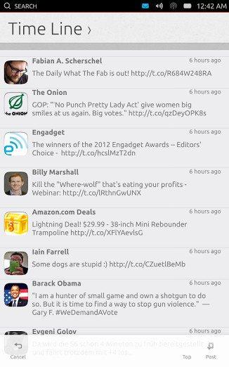 Ubuntu Phone Gwibber
