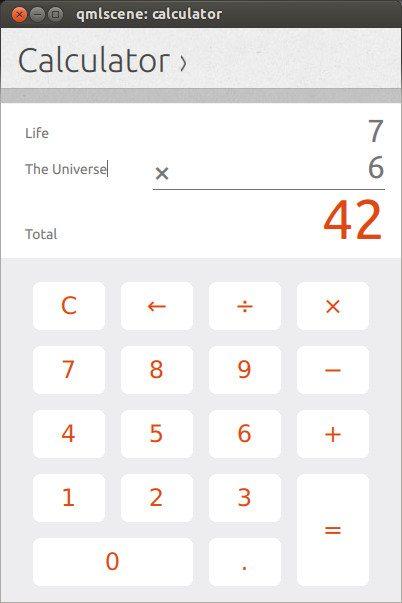 Ubuntu Phone Kalkulator