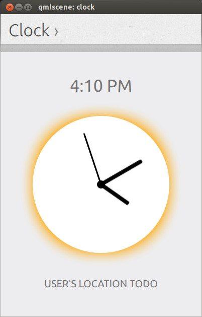 Ubuntu Phone Zegar