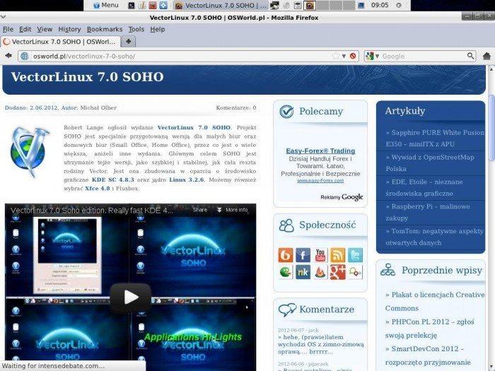 VectorLinux 7.0 SOHO - przeglądarka internetowa