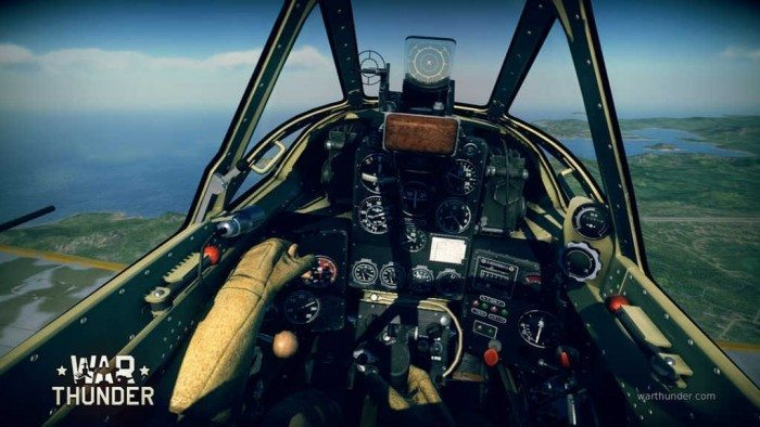War Thunder - wnętrze samolotu