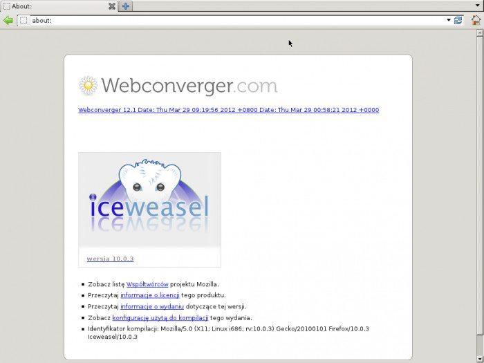 Webconverger 12.1
