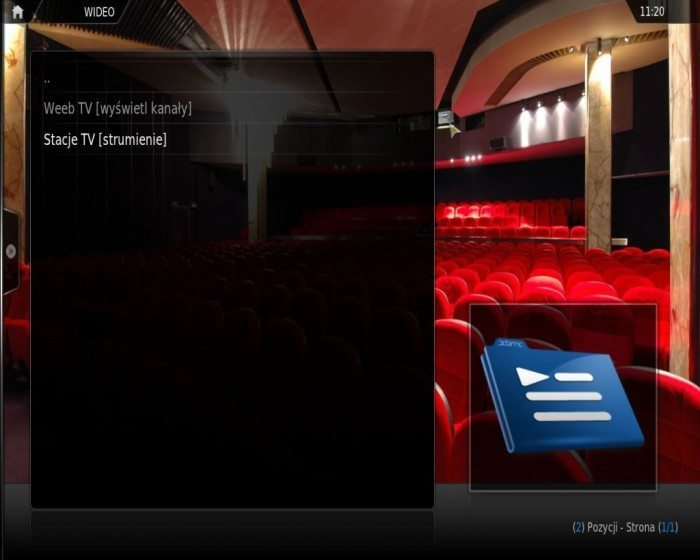 XBMC - telewizja internetowa