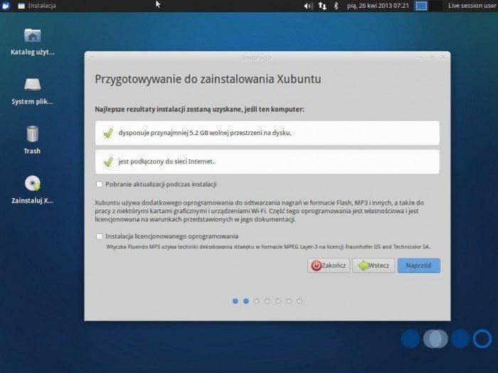 Xubuntu 13.04 - instalator