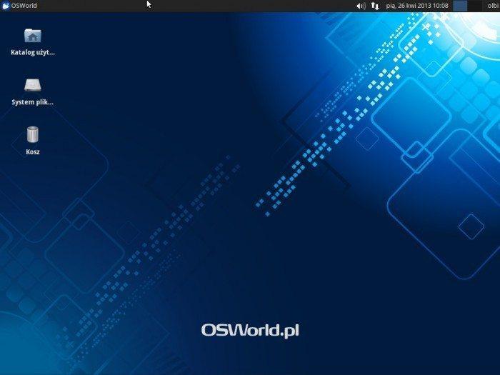 Xubuntu 13.04 - pulpit