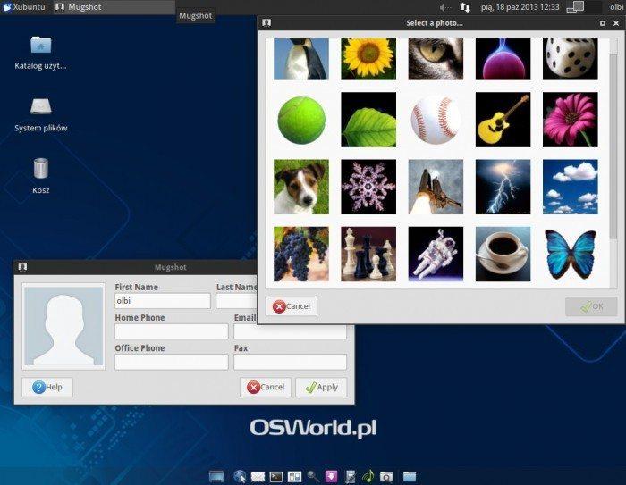 Xubuntu 13.10 - narzędzie Mugshot