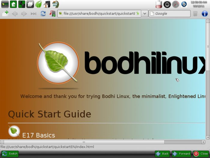 Bodhi Linux 0.1.7