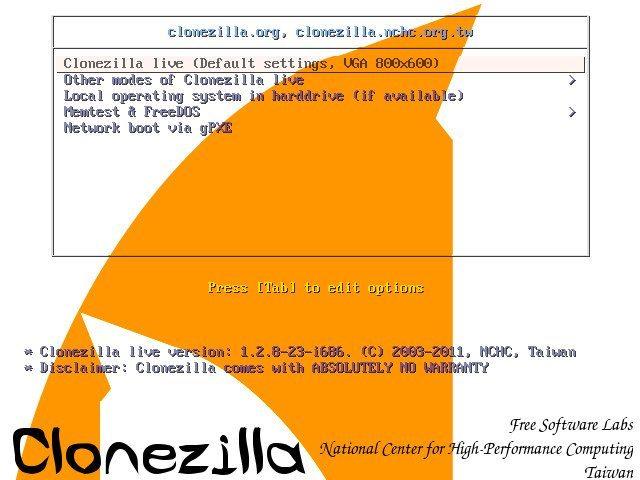 Clonezilla Live 1.2.8-23