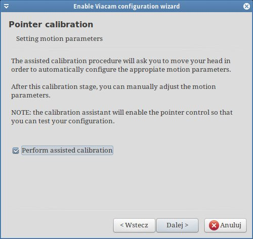 eViacam - Pointer callibration