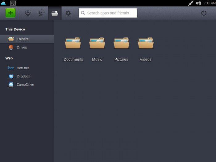 Jolicloud 1.1.1 - Przeglądanie plików
