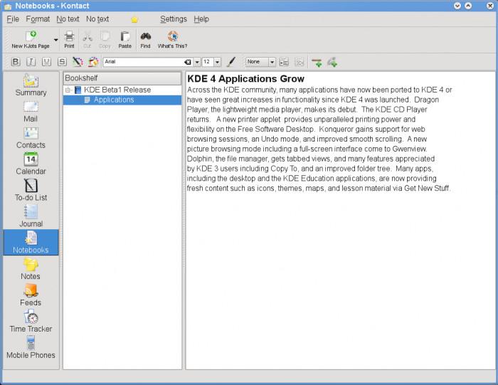 KDE 4.1 Beta 1 - Kontact - KMail