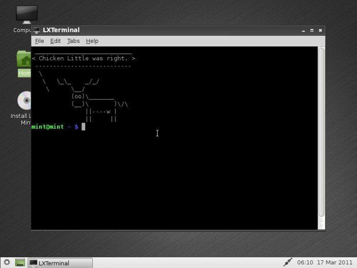 "Linux Mint 10 ""LXDE"""