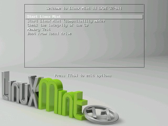 "Linux Mint 11 ""LXDE"""