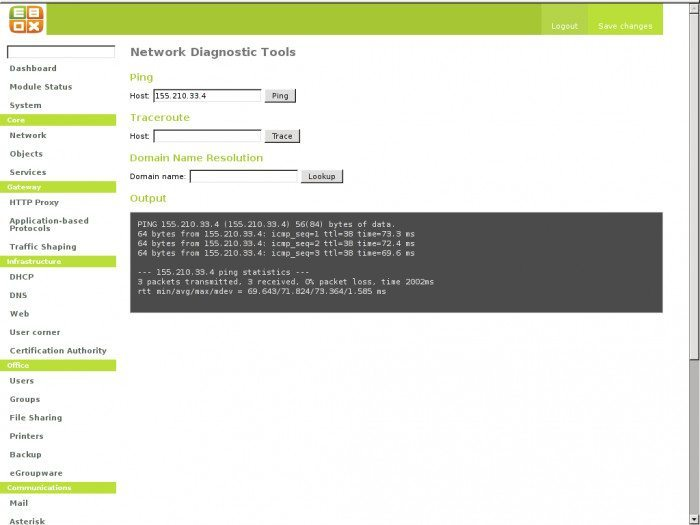eBox - Diagnostyka sieci