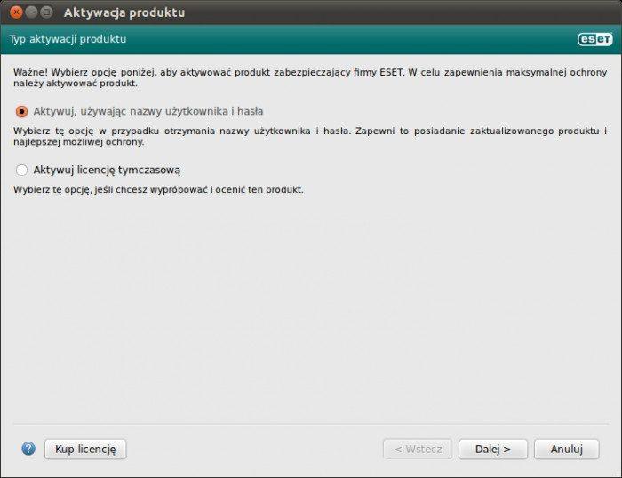 NOD32 Antivirus for Linux Desktop