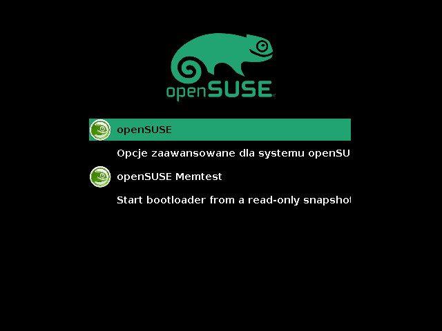 openSUSE 13.2 - ekran uruchamiania
