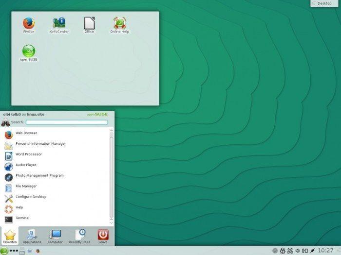 openSUSE 13.2 - menu