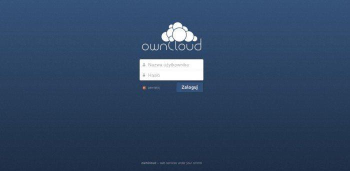 ownCloud 6 - logowanie