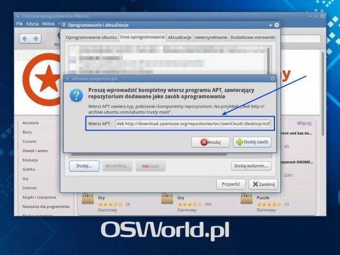 ownCloud Client - CEO i dodawanie repozytorium 3