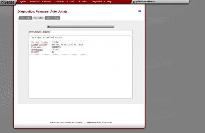 pfSense 2.0 RC1 - Aktualizacje