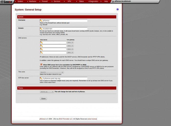 pfSense 2.0 RC1 - Konfiguracja