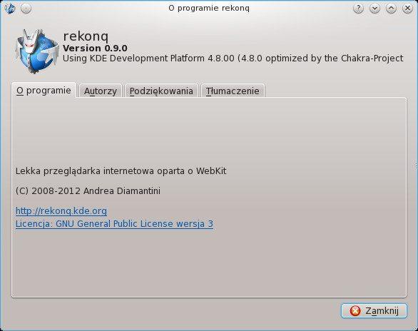 Rekonq 0.9