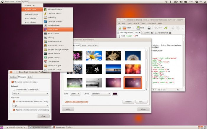 Ubuntu 10.10 - Pulpit